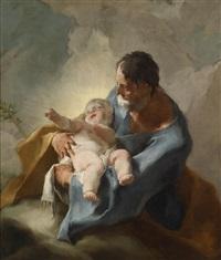 der heilige joseph als nährvater jesu by josef ignaz mildorfer