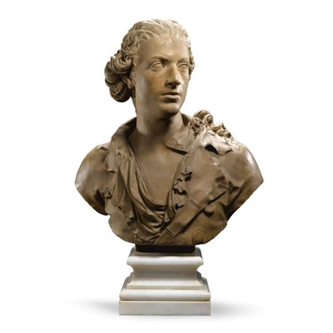 bust of a young man by jean baptiste boudard