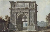 the arch of trajan, rome by simone pomardi