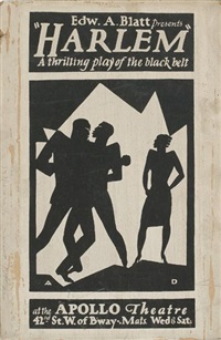 edward a. blatt presents harlem, a thrilling play of the black belt by aaron douglas