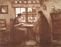 intérieur campinois (la lettre) by jacobs (jakob) smits