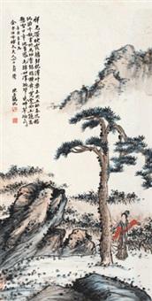 松寿图 立轴 纸本 by chen banding