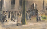 schulgang in laren by max liebermann