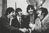 the beatles at the launch of sgt pepper, london by linda mccartney