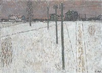 vorort im winter by otto abt