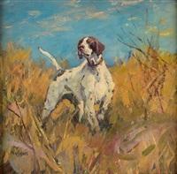 hunting dog by frank b. hoffman
