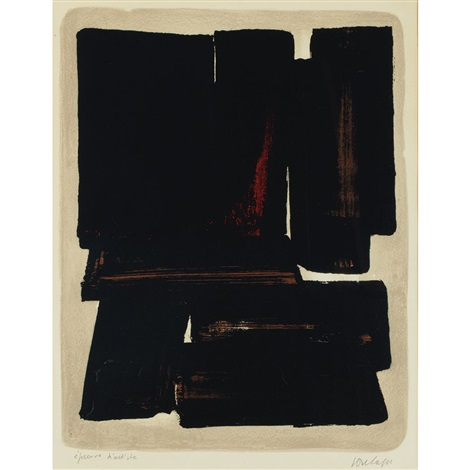lithograph no 7a by pierre soulages