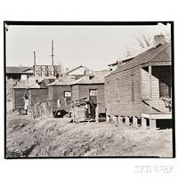 wooden houses, possibly vicksburg, mississippi by walker