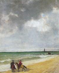 cavaliers sur la plage by ignacio merino