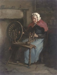 at the spinning wheel by henry raeburn dobson
