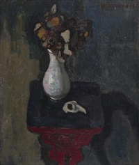 still life with flowers by alberto morrocco