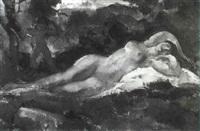 nu dans un paysage by guillaume dulac