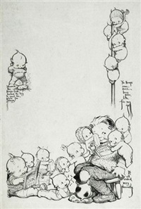 kewpies serenading seated boy by rose o'neill