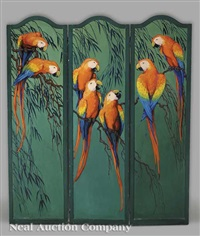 macaws (in 3 panels) by marie atkinson hull