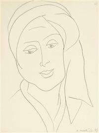 femme au turban (lydia) by henri matisse