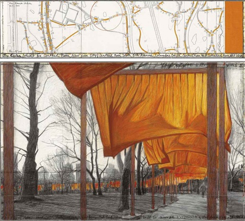 the gates project for central park new york city 2 works by christo and jeanne claude