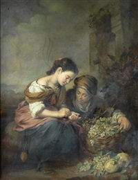 the fruit seller (after bartolomé esteban murillo) by otto vaeltl