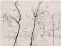 vue animée d'une place by leon lehmann