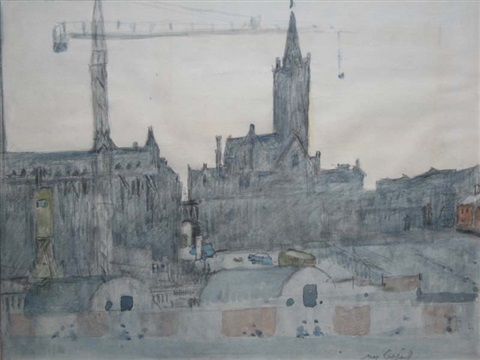 christ church and wood quay by maurice macgonigal