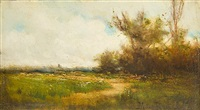 country landscape with pathway by milne ramsey
