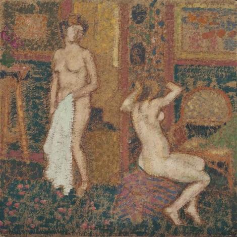nus dans l'atelier by georges lemmen