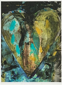 turquoise virgin from the series hearts from nikolaistrasse by jim dine