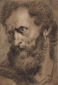 head of an apostle (jude: judas thaddeus) by sir anthony van dyck