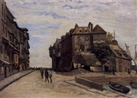 la lieutenance de honfleur by claude monet