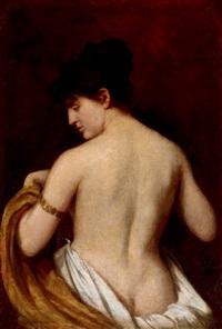 female nude by bertalan székely von adámos