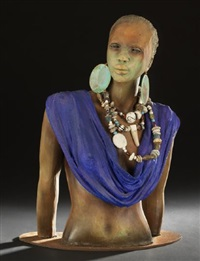 african female torso by woodrow nash