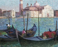 view over to san giorgio maggiore by alan stenhouse gourley