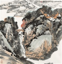 山居图 (residence in mountains) by ji xuejin