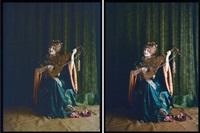 musicienne au rideau vert (2 works) by edmond goldschmidt