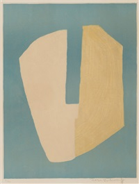 composition jaune et bleue by serge poliakoff
