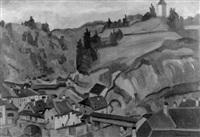 le gotteron et le pont du bois by louis joseph vonlanthen