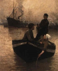 on the thames by eugene lawrence vail