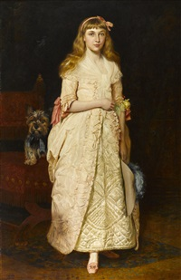 a portrait of miss rose fenwick as a child by james archer