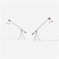 floor lamps (pair) by gilbert watrous