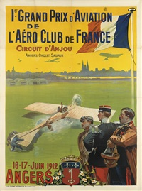 1er grand prix d'aviation/angers (collab. w/h. carrey) by ernest-louis lessieux