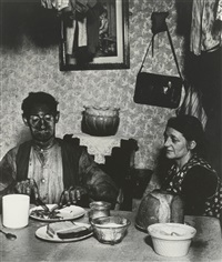 miner at his evening meal by bill brandt