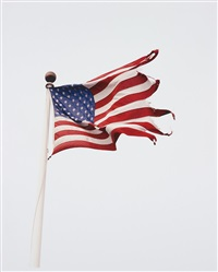 flag at snug harbor, montauk, new york, by michael dweck