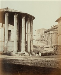 temple of vesta, piazza della verita, rome by james anderson