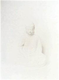 seated buddha (from the o + 1 series) by sarah charlesworth