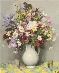 bouquet avec iris bleu by marcel dyf