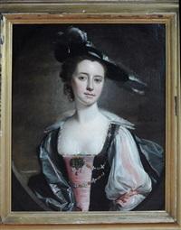 a half-length portrait of margaret swetenham by henry pickering