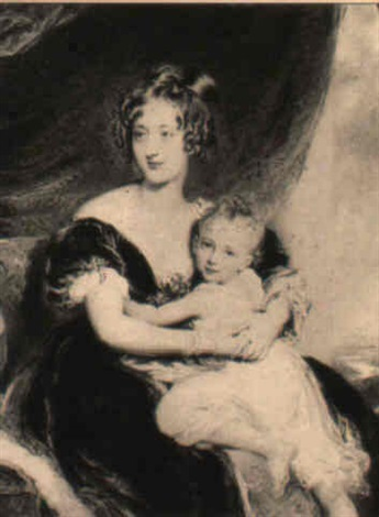 portrait of the countess of carlisle with her daughter by william derby