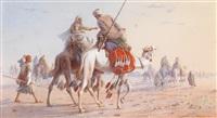 karawane in der wüste by joseph austin benwell