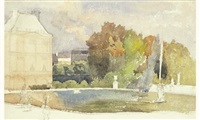 le bassin du luxembourg by maurice lelievre