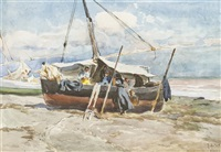fishing boats, valencia by mathias joseph alten