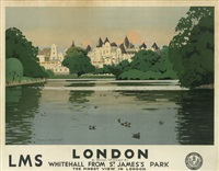 london/whitehall from st. james's park by norman wilkinson